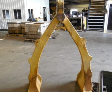 Install new eye on A-Frame for Haul Truck