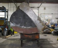 Repaired Loader Bucket