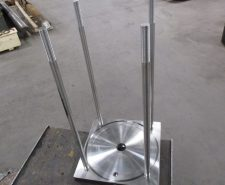 Manufactured S.S. Cylinder End Cap with S.S. Tie Rods